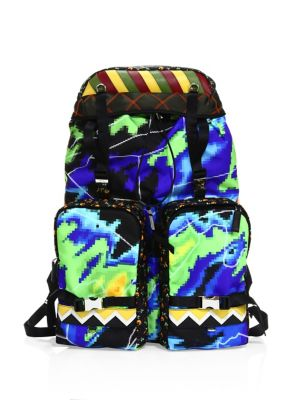 4ef84bac2e1b ... coupon for prada saffiano leather trimmed printed nylon backpack  multicolor 84144 6bc79
