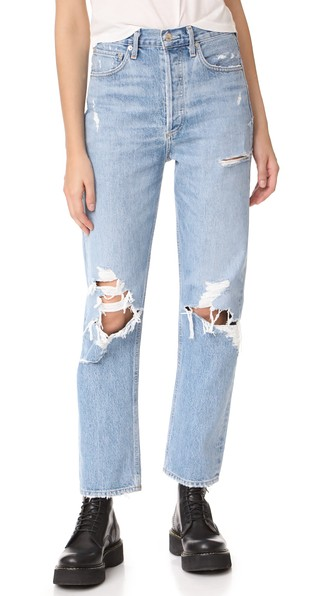 A GOLD E '90S Fit Mid Rise Loose Fit Jeans in Fall Out