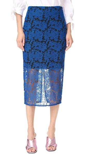 Geometric-embroidered tulle dress Diane Von Fürstenberg Sale Sneakernews For Nice Sale Online Gs1zTR