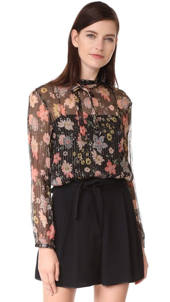 RED VALENTINO Floral Blouse in Multicolor
