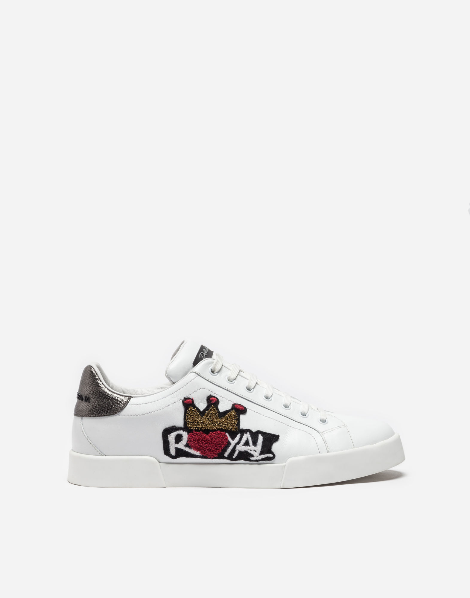 Dolce & Gabbana Leather Sneakers With Patches nN3L0T7