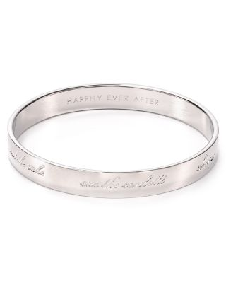 'Idiom - Happily Ever After' Bangle in Silver-Tone