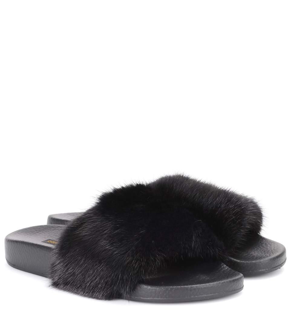Dolce & Gabbana Fur sliders LT7BVMFGNU