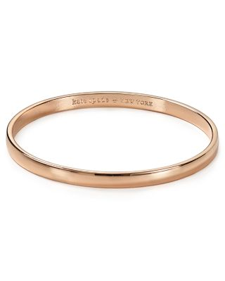 'Idiom - Stop And Smell The Roses' Bangle in Rose Gold