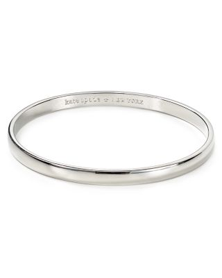 'Idiom - Find The Silver Lining' Bangle in Silver-Tone
