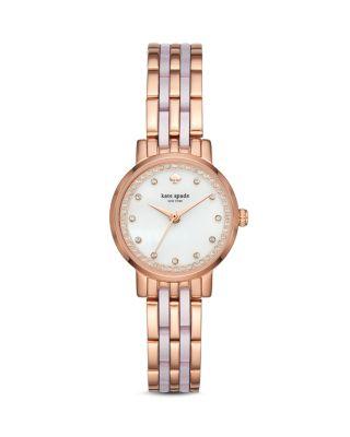 Monterey Crystal Dial Bracelet Watch, 24Mm, White/Rose
