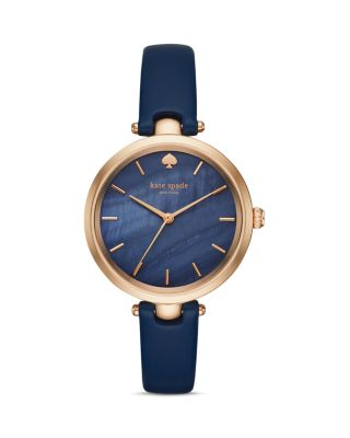 Holland Constellation Leather Strap Watch, 34Mm in Blue from Kate Spade