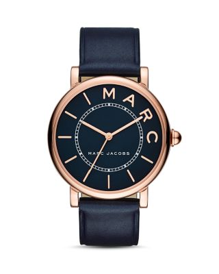 Classic Leather Strap Watch, 36Mm, Navy