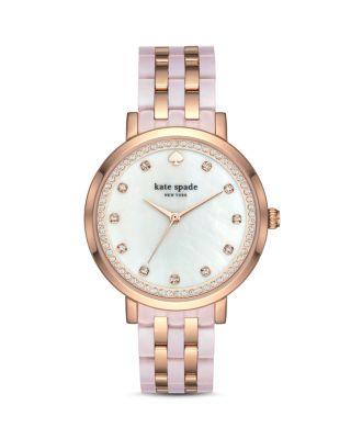 Monterey Crystal Dial Bracelet Watch, 38Mm, White/Rose