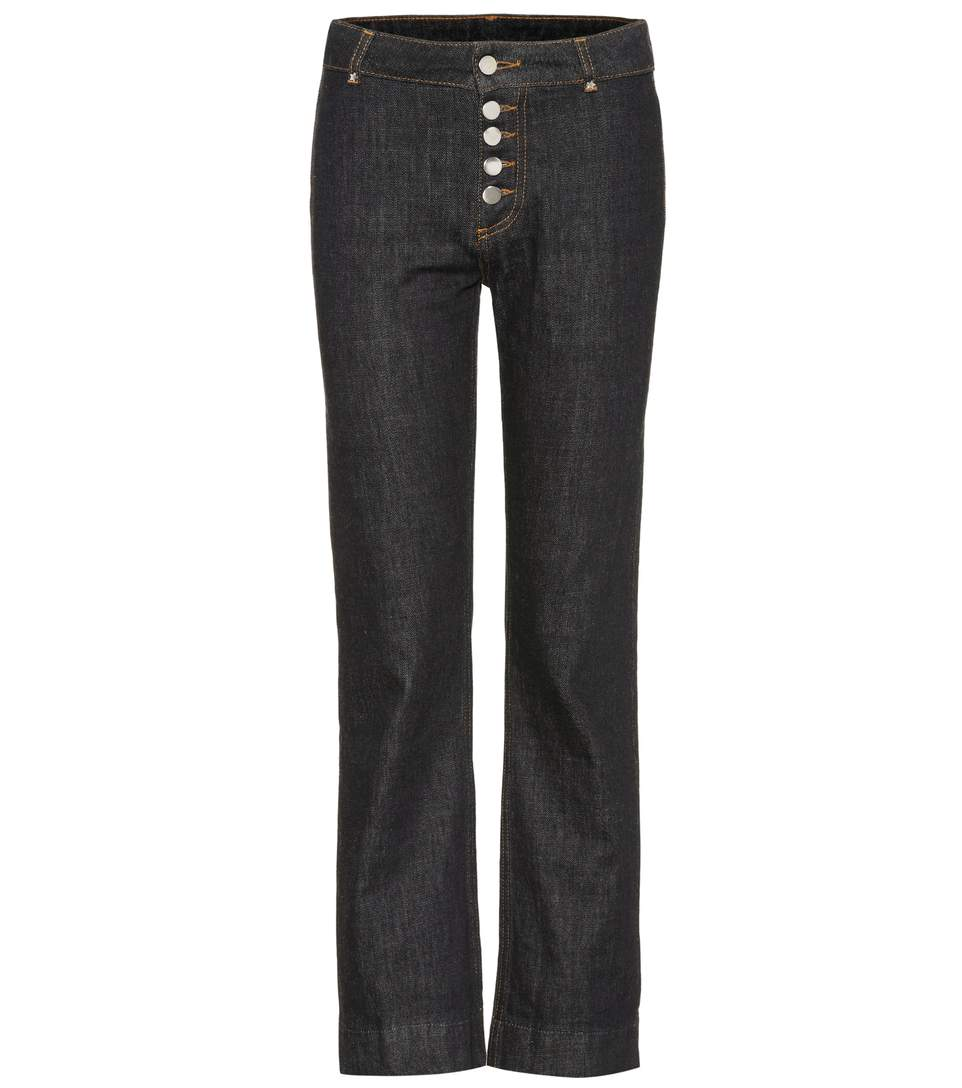 Tokyo High-Waisted Cropped Jeans, Blue