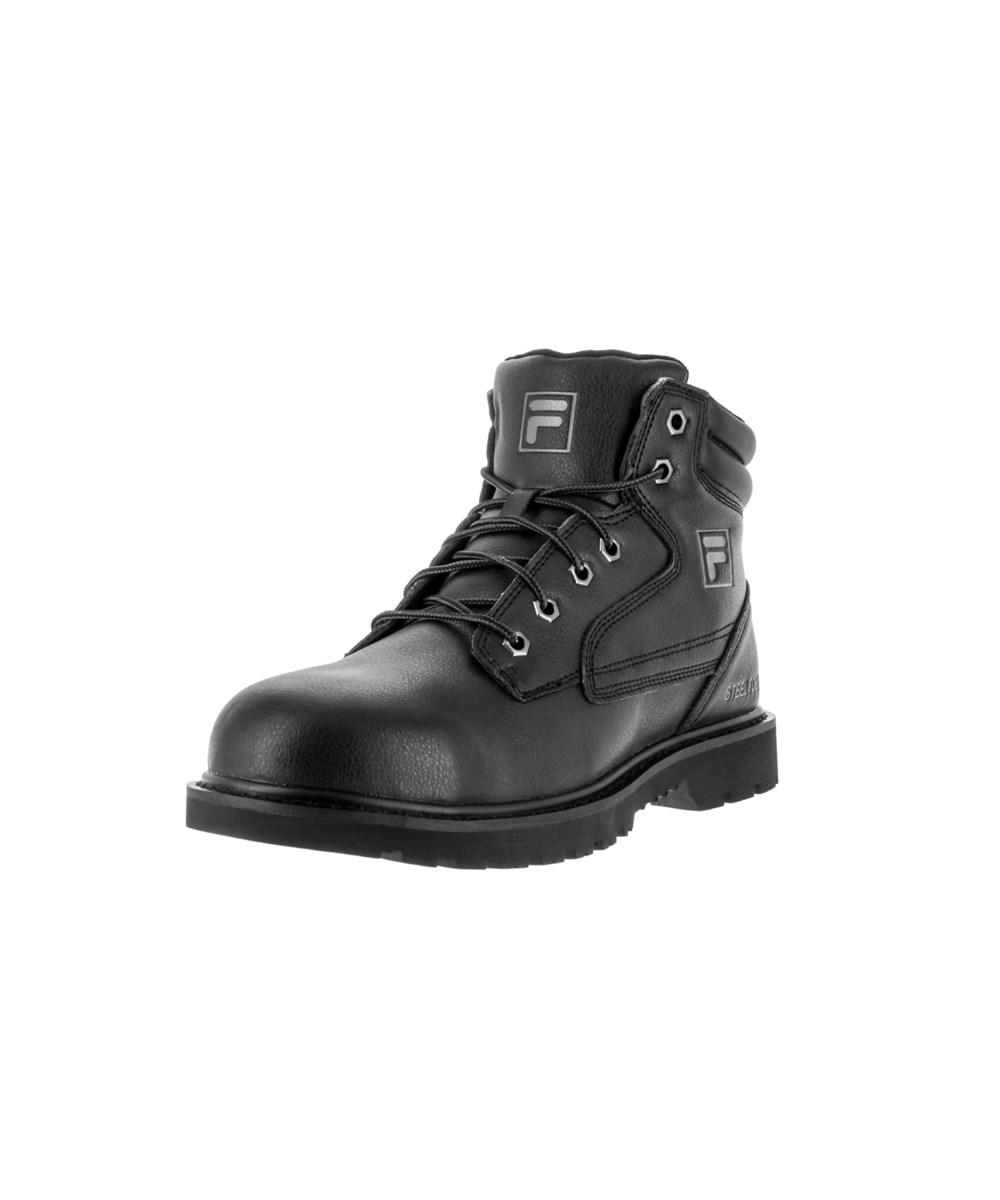 fa1c053ce6 Fila Landing Steel Men Steel Toe Leather Black Work Boot