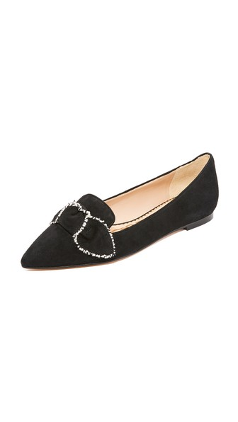 cd521e707 SAM EDELMAN Rochester Pointed-Toe Loafer Flat With Bow