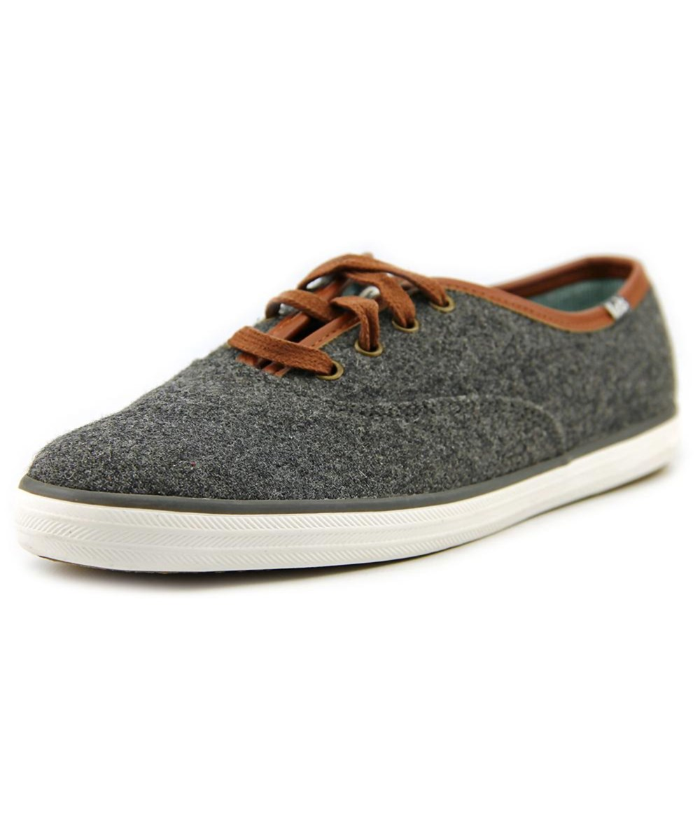 be32b1bc585 KEDS Champion Wool Women Round Toe Canvas Sneakers in Grey
