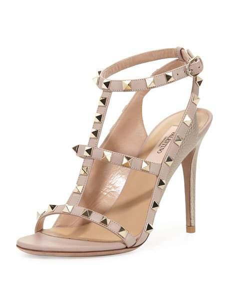 Valentino Rockstud Caged Sandals