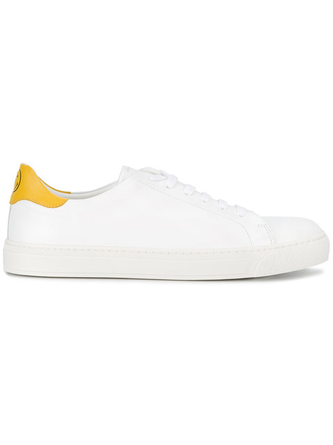White Leather Wink Sneakers