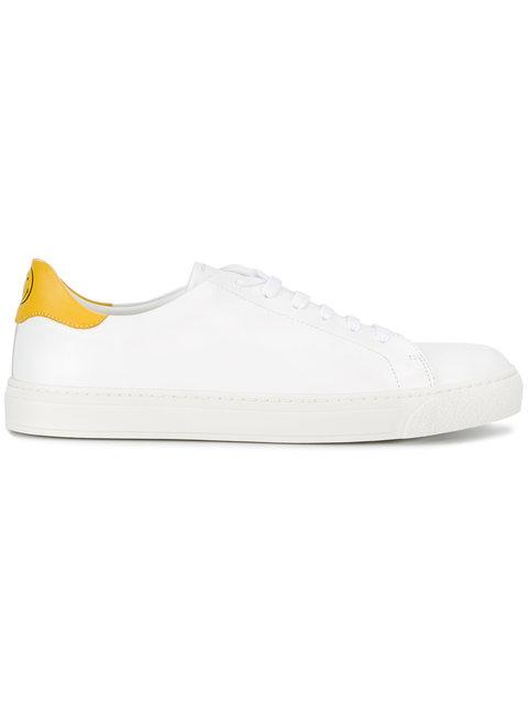 White & Yellow Smiley Sneakers