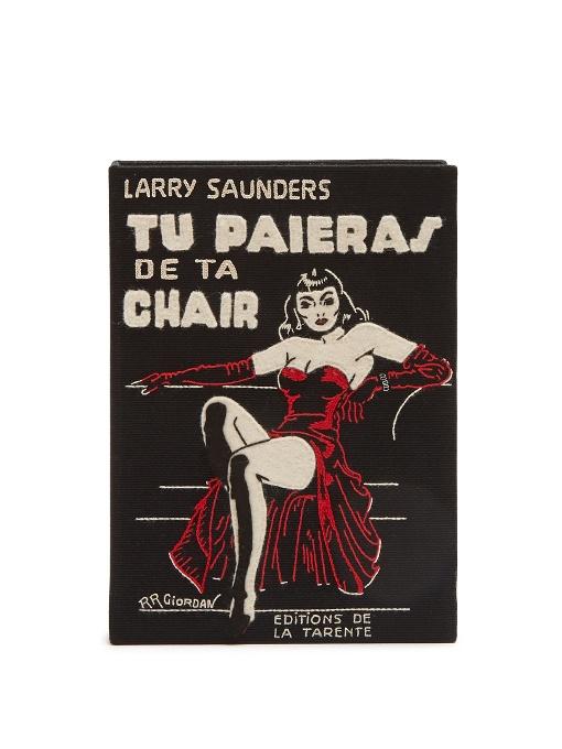 Tu Paieras De Ta Chair Book Clutch, Black Multi