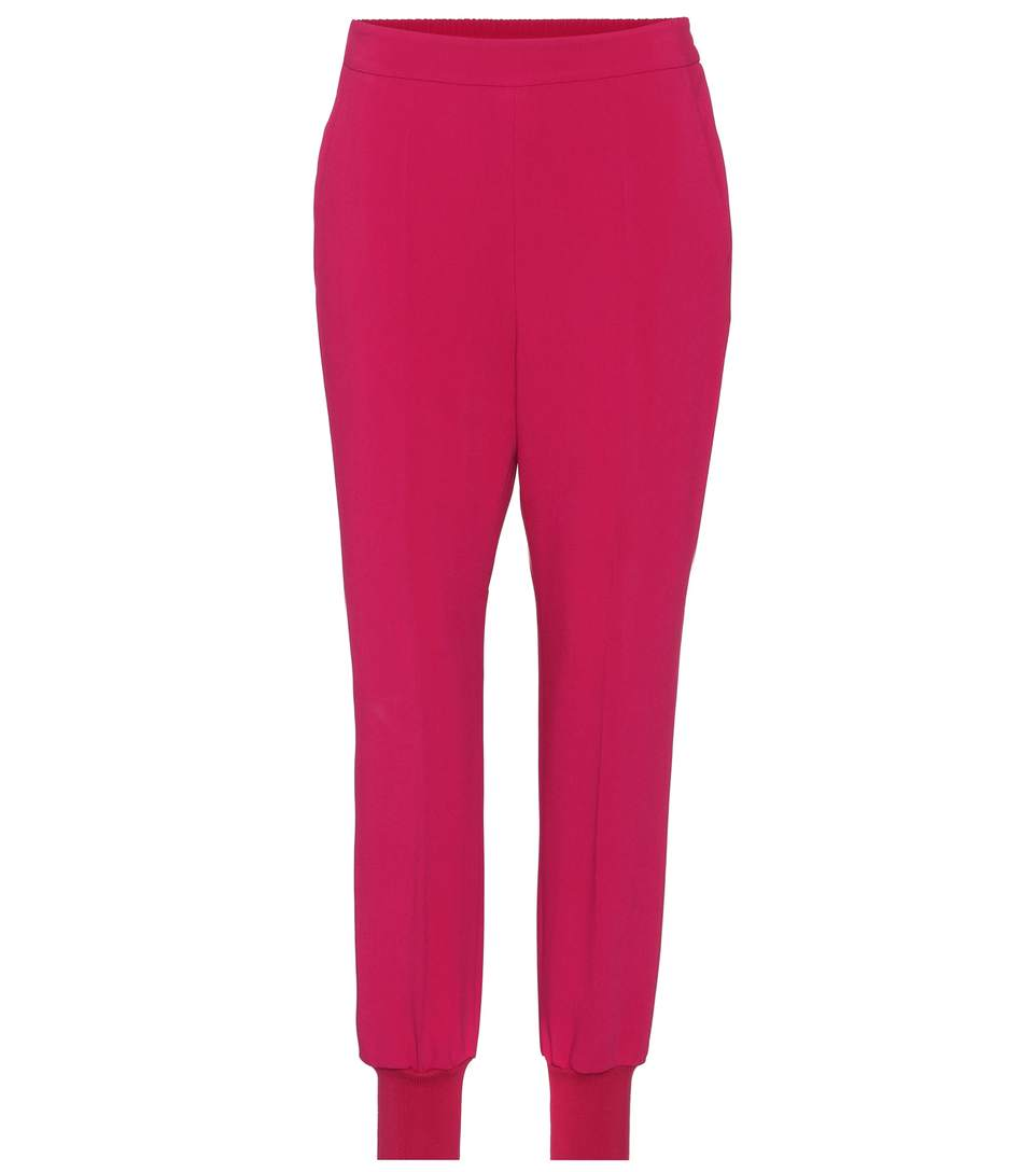 Woman Julia Crepe Tapered Pants Red