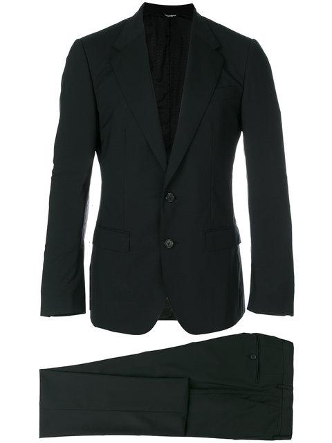 Single-Breasted Satin Peak-Lapel Wool-Blend Tuxedo in Black