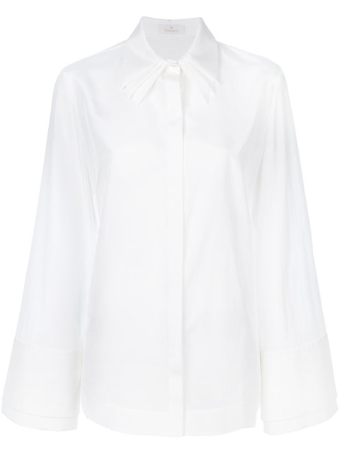 CAPUCCI Double Detail Shirt in White