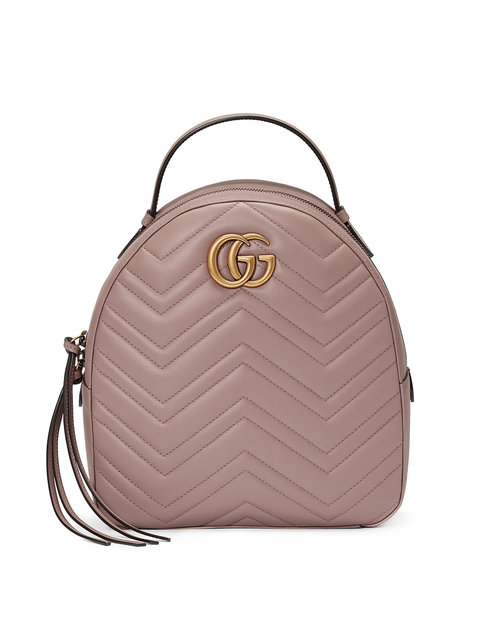Gg Marmont Quilted Leather Backpack, Nude & Neutrals
