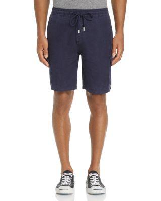 Vilbrequin Linen Cargo Shorts, Navy