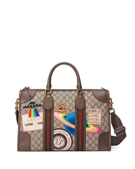 Courrier Soft Gg Supreme Duffle Bag, Beige