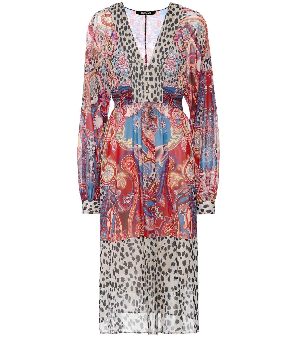 ROBERTO CAVALLI Paisley Printed Dress in Multicoloured