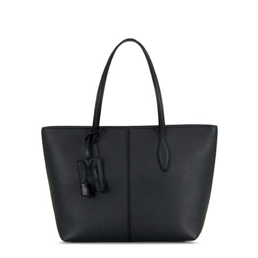 Joy Large Leather Shopper, Black