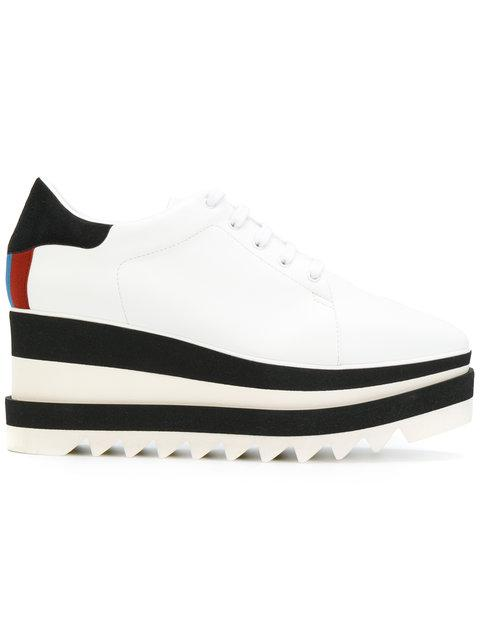 Elyse Platform Sneakers In White
