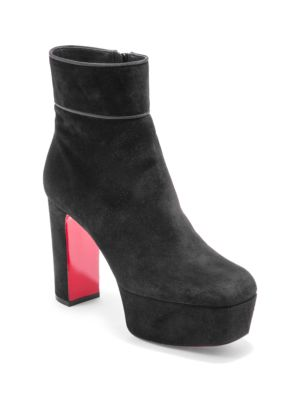 uk availability f6417 c5866 Protorlato 110 Suede Platform Ankle Boots, Black