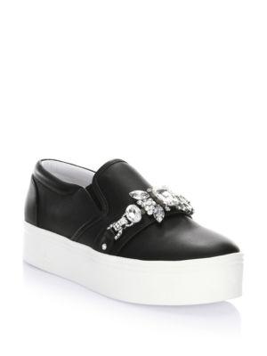 Marc Jacobs Black Embellished Platform Sneakers M8MJsMrIL