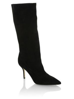 Ciondolare Scrunched Suede Boot, Black
