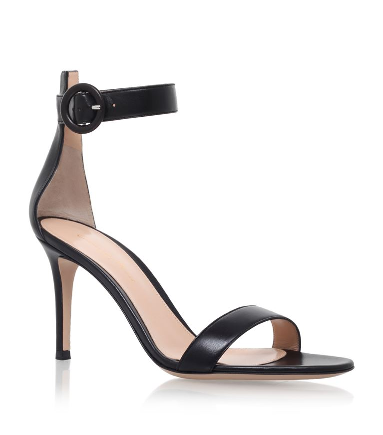 Leather Louis Sandals, Black