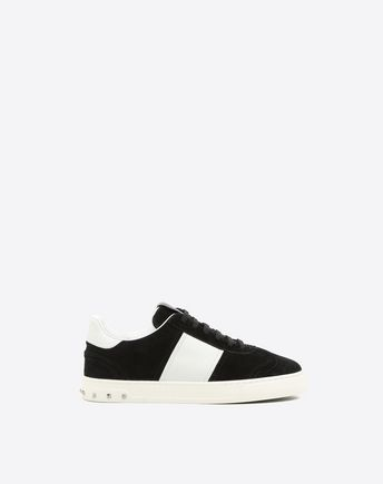 Fly Crew Suede Sneakers in Black