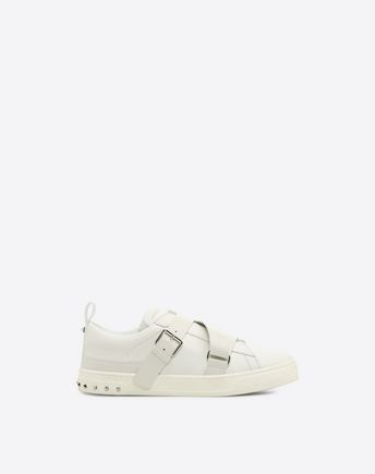VALENTINO V-Punk Low-Top Leather Trainers, White