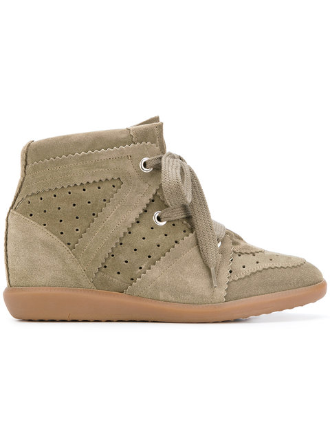 Isabel Marant Bobby Wedge Sneakers - Neutrals