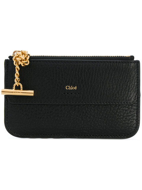 chlo chloe black drew zipped card holder - Chloe Card Holder