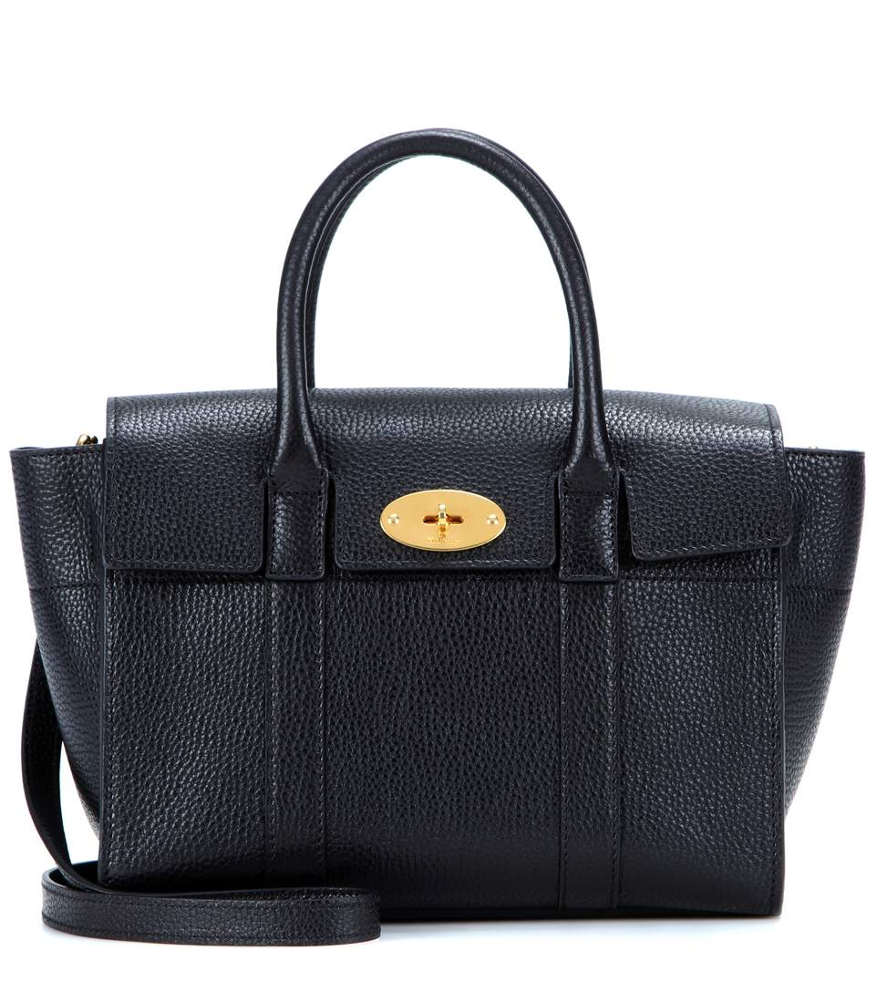 Bayswater Small Leather Tote in Llack