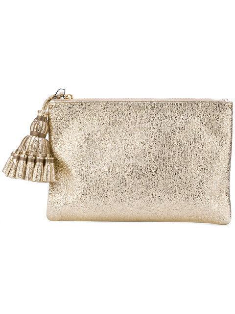 54a525b236 ANYA HINDMARCH 'GEORGIANA' CRINKLED METALLIC LEATHER CLUTCH, GOLD ...