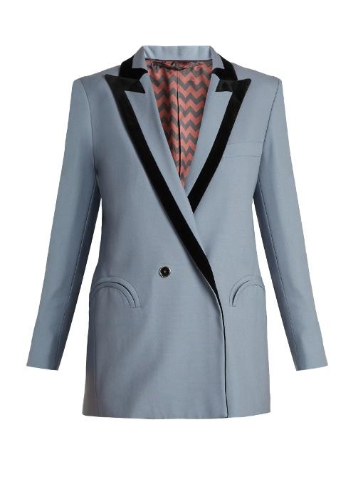 BLAZÉ MILANO 'Puritan' Wool Suiting Blazer in Light Blue