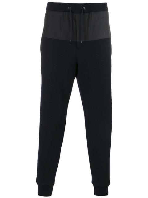 MARNI Contrast-Panel Cotton-Blend Track Pants, Blue
