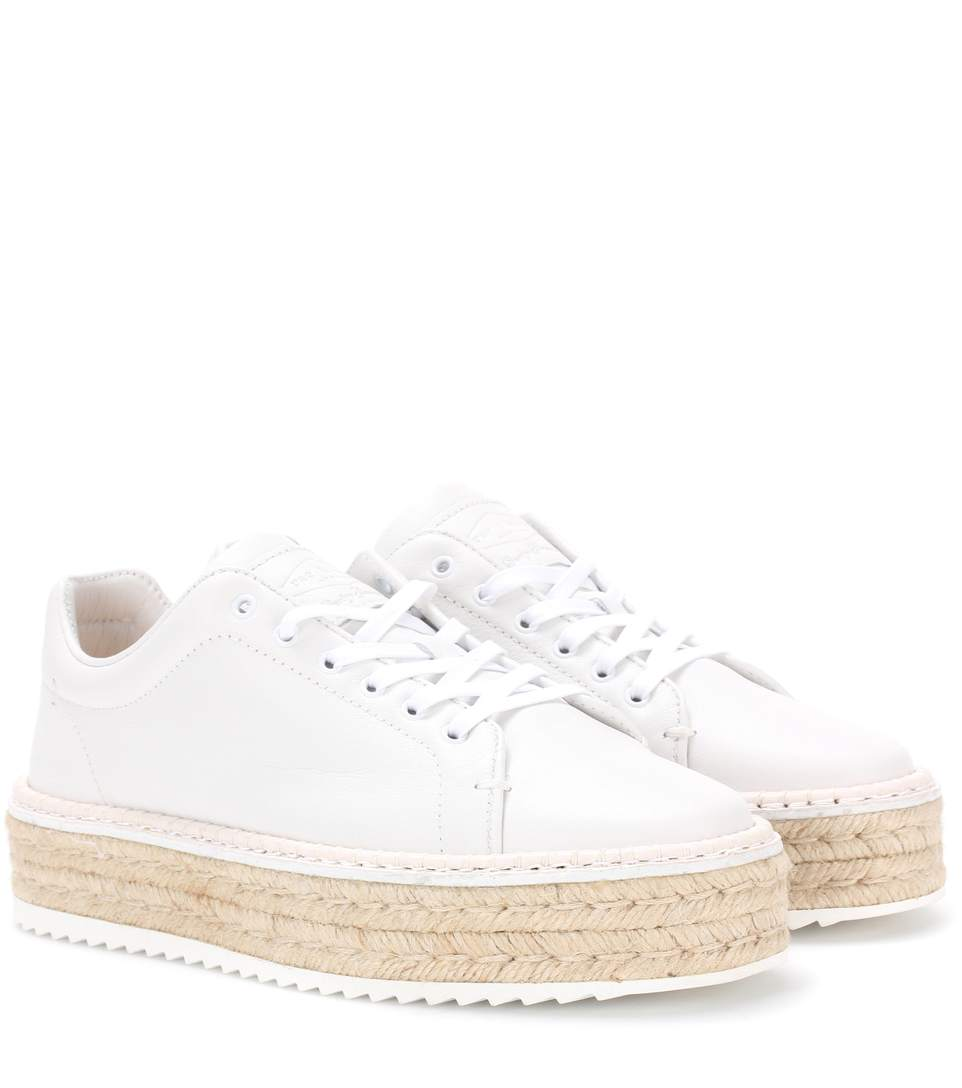 Rag & Bone Woman Kent Suede Platform Espadrille Sneakers Sand Size 40 Rag & Bone CH0g6