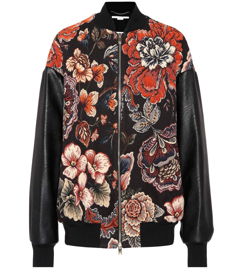 Jacquard Bomber Jacket, Multicoloured