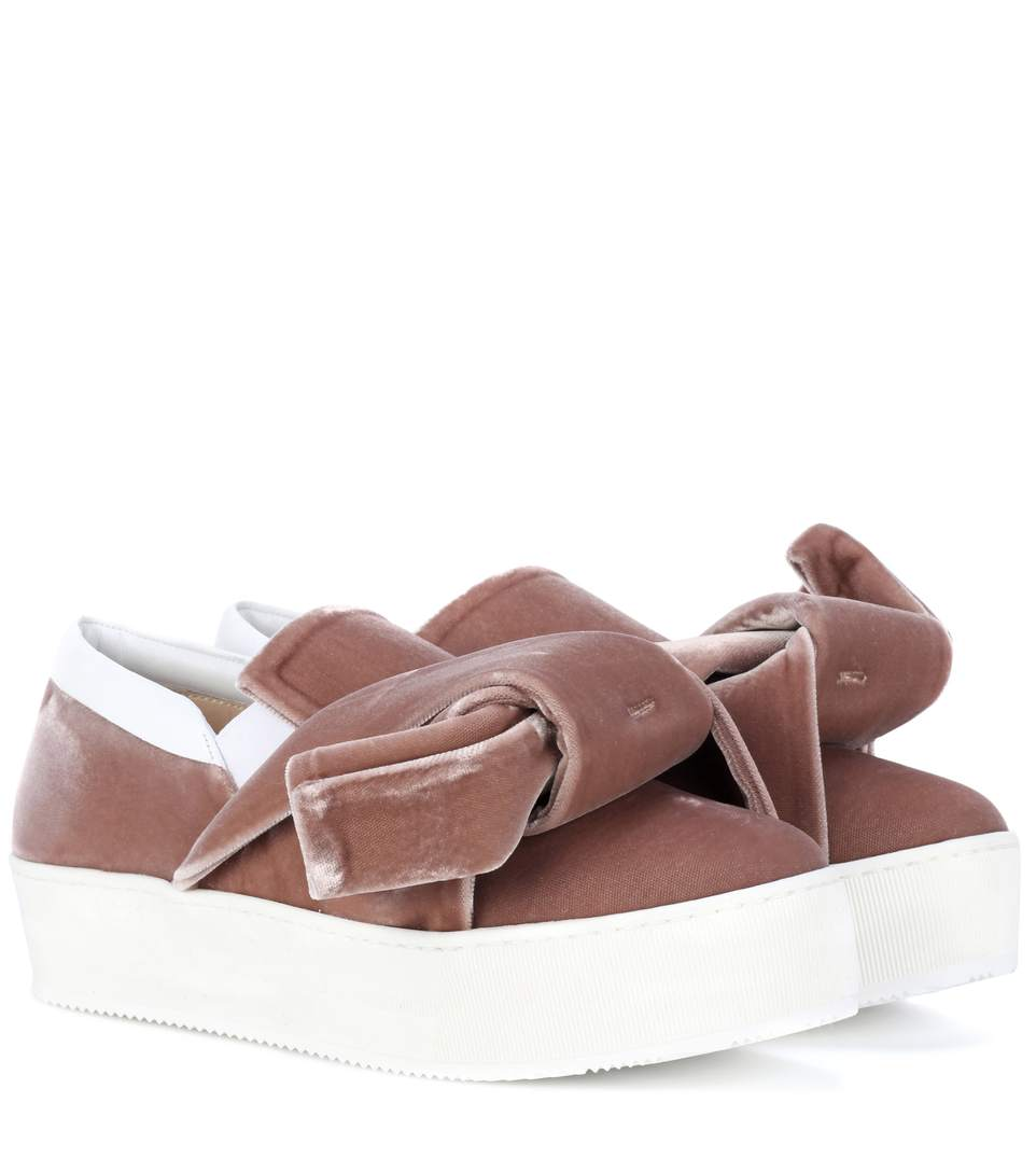 Nº21 Bow Slip-On Sneakers - Pink