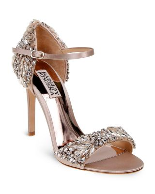 BADGLEY MISCHKA Tampa Ankle-Strap Evening Sandals Women'S Shoes in Nude