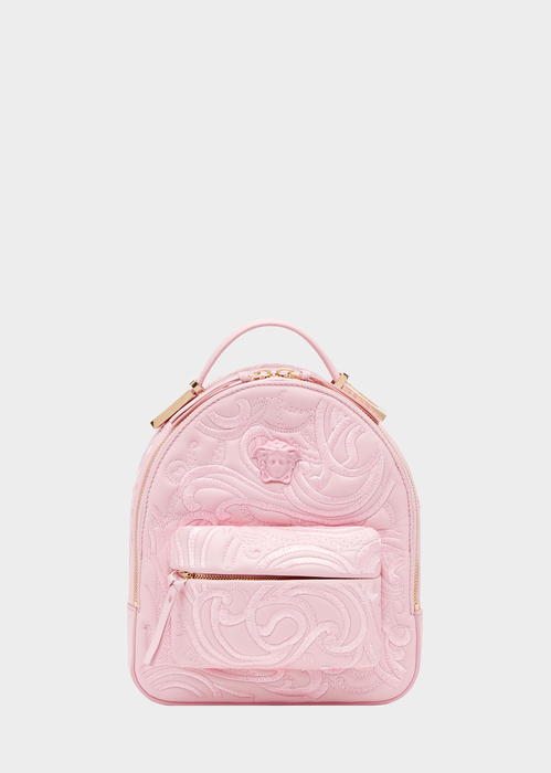 Embroidered Baroque Mini Backpack, Pink