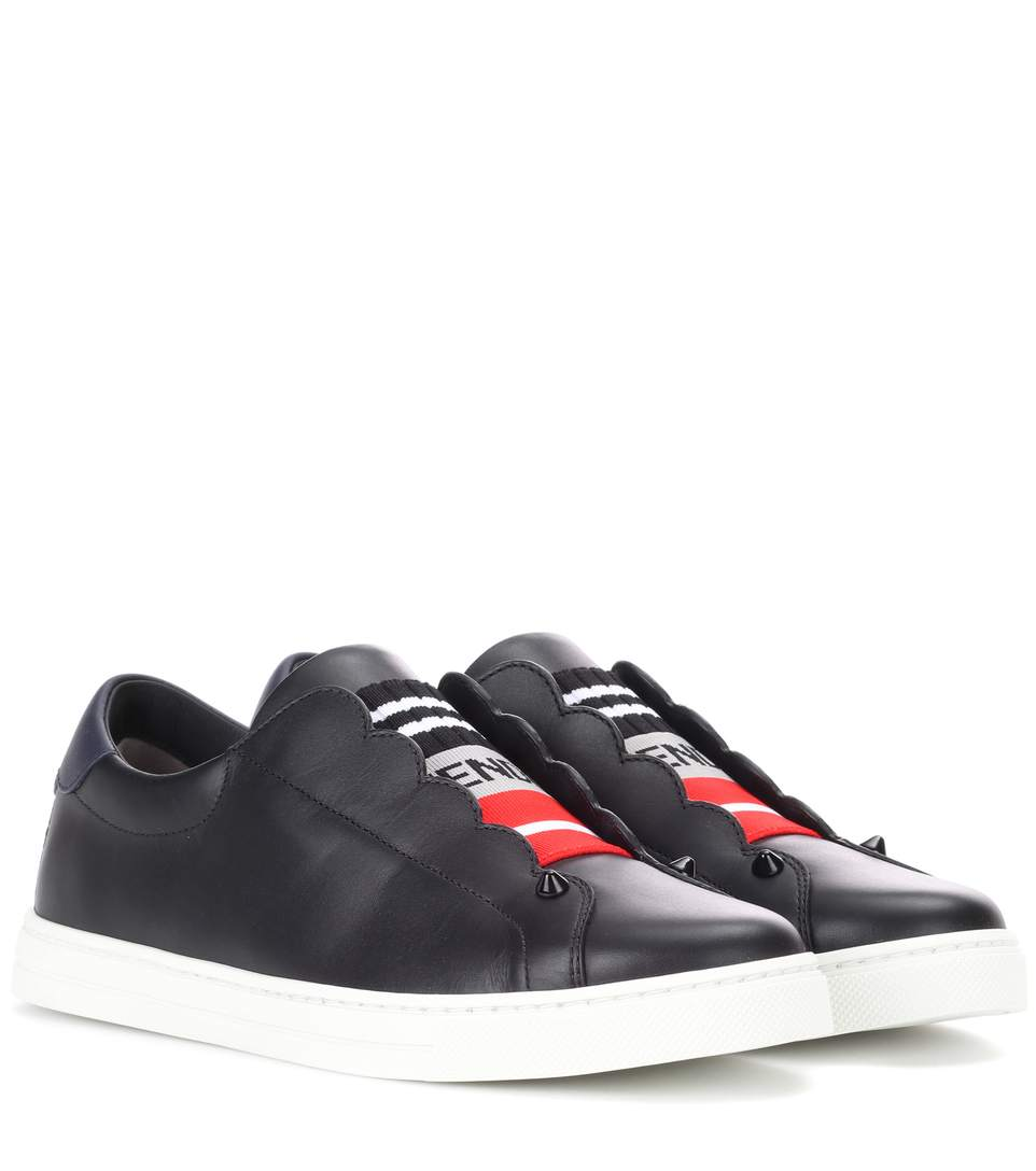 Leather slip-on sneakers Fendi
