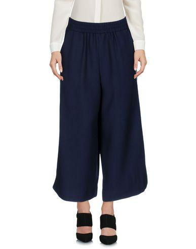 MOTHER OF PEARL Minos Textured-Wool Culottes in Storm Blue
