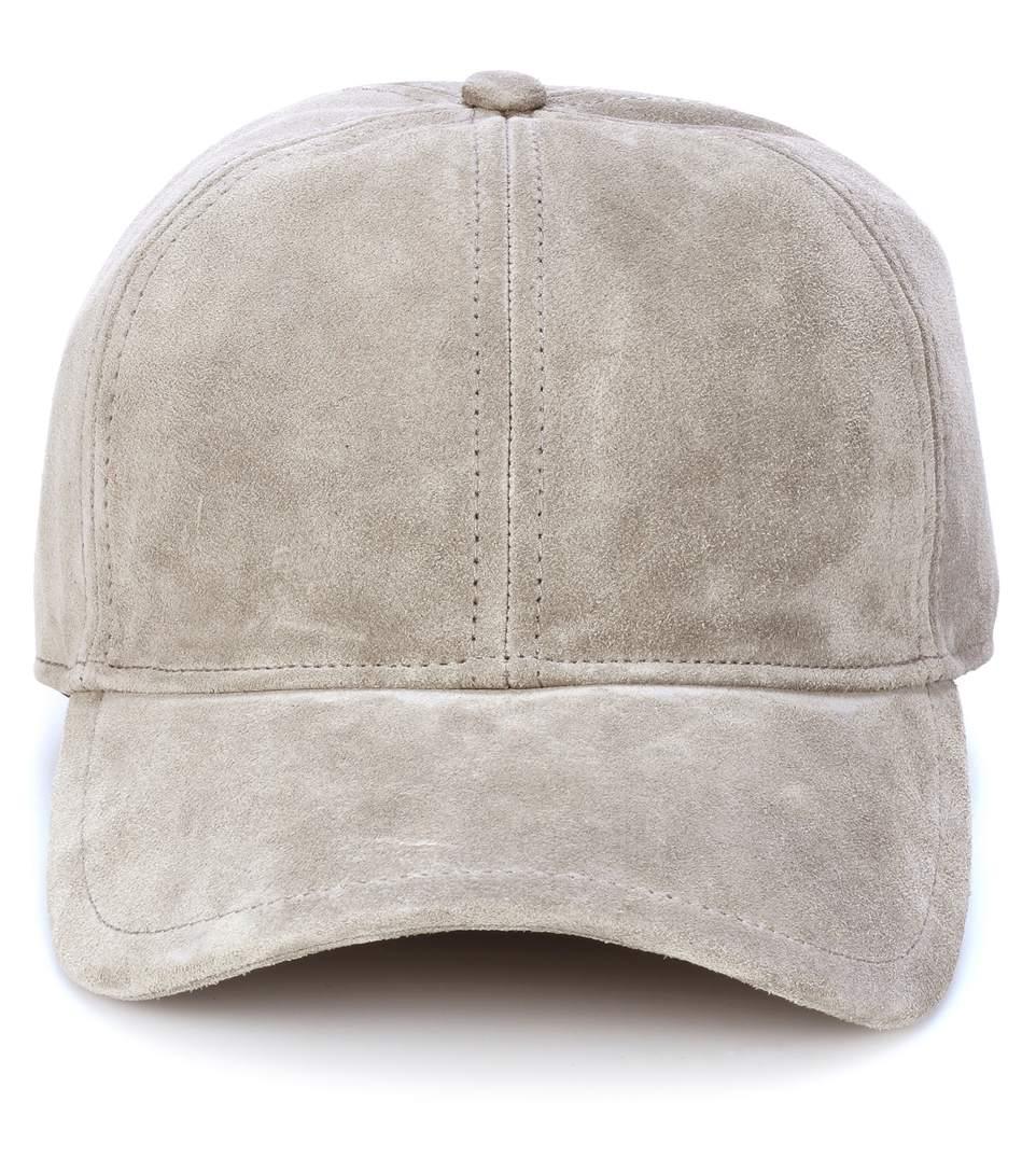 Rag And Bone Grey Suede Marilyn Baseball Cap in Gray
